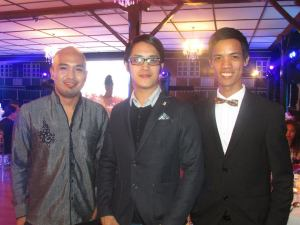 With shoe designer Nere Ku and blogger Mark Mendoza.