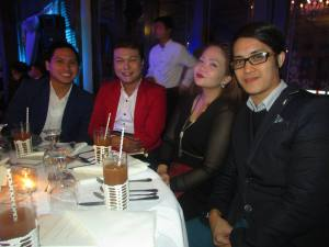 High profile table: L-R Fashion photographer Edizon Zausa, high-concept stylist Domz Ramos, stylist Pauline Macapagal of MEGA Fashion Crew 3 Reloaded and the one and only Nere Ku.