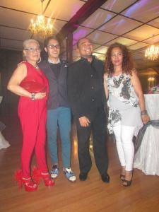 Nere Ku's family - Mom, Jhon Permejo and Wena Thomas.